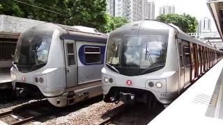 【香港の鉄道】MTR東鉄線 粉嶺駅を発車するメトロキャメル電車