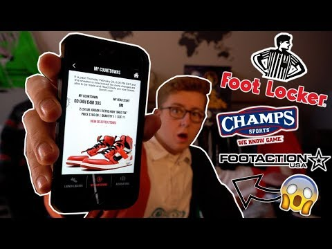 HOW TO RESERVE EXCLUSIVE SNEAKERS WITH FOOTLOCKER, FOOTACTION, CHAMPS! | CHECK IN CODES