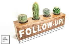 Follow-Up! Cactus Planter // Making a Wooden Plate