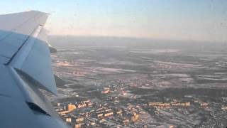 Transaero Airlines B777 flight UN136 taxiing and takeoff from Khabarovsk