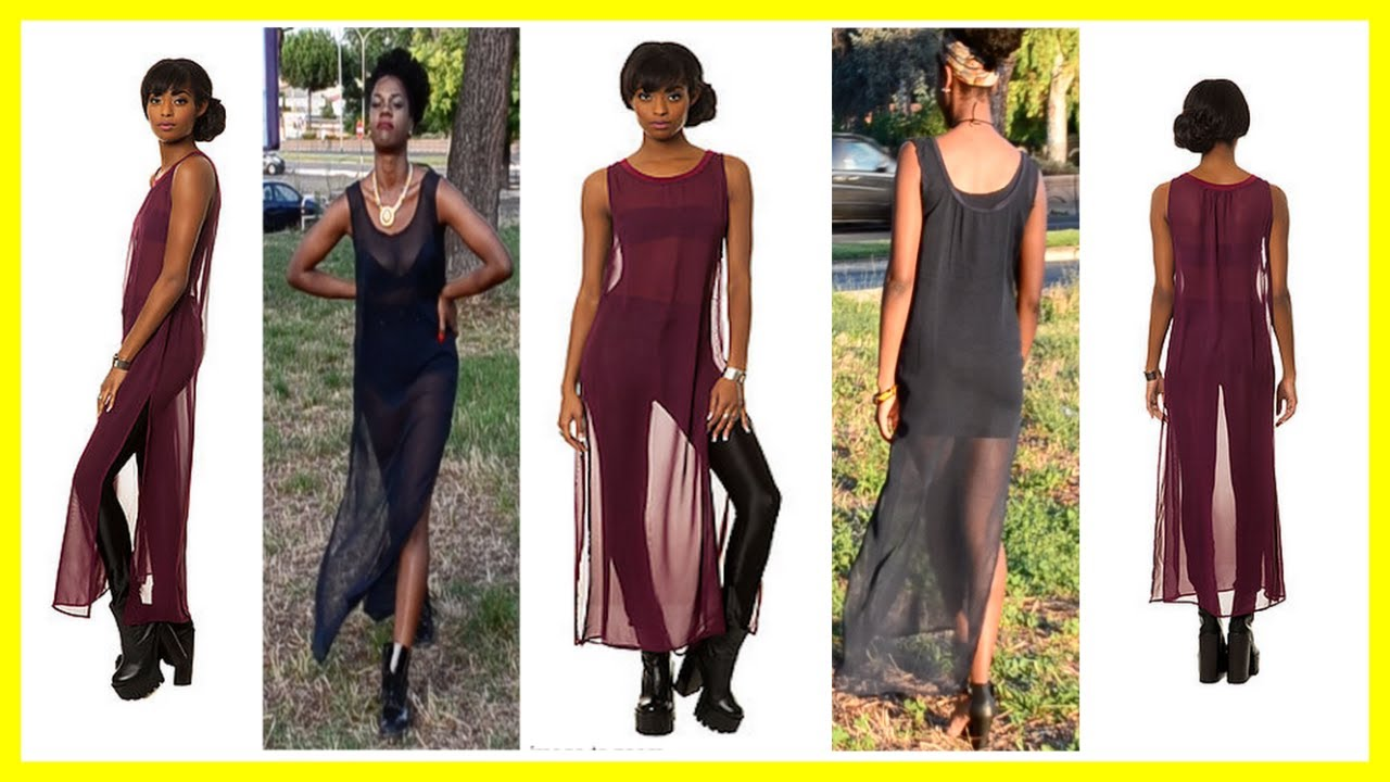 How to make a sheer maxi dress DIYYouTube