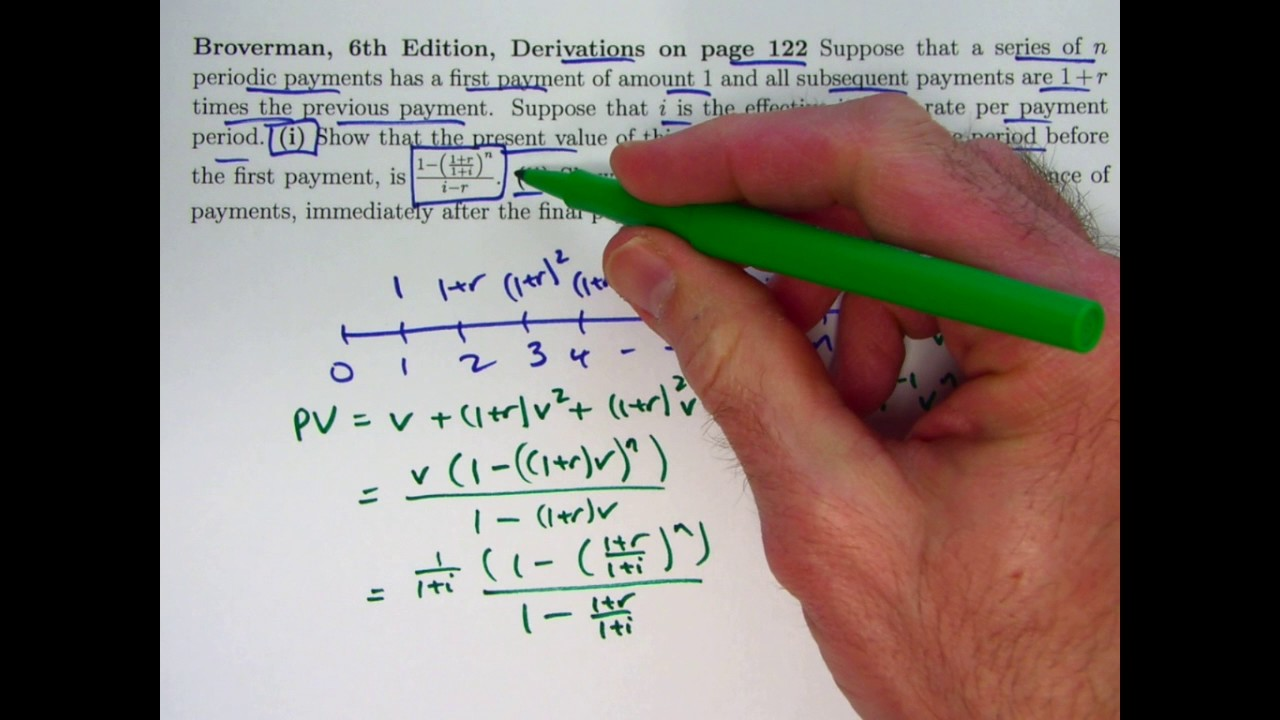 actuarial exam 2  fm prep  present and future values of n