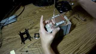 installing the zalman cnps10x optima cpu cooler on amd am3 socket motherboard