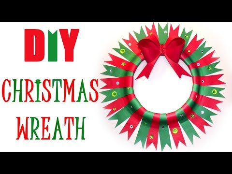 Christmas Wreath DIY / Easy Paper Christmas Wreath  / Christmas Crafts