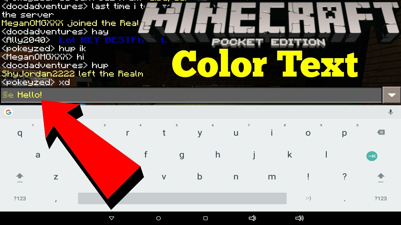 color text minecraft