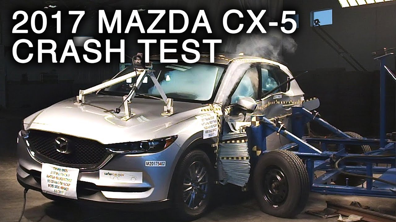 2017 mazda cx 5 side crash test youtube. Black Bedroom Furniture Sets. Home Design Ideas
