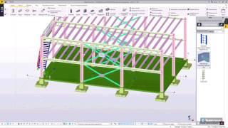 Настройка автосоединений, получение планов и схем расположений металлоконструкций в Tekla Structures