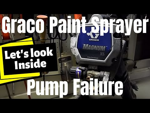 Graco Magnum X5: X7 [Paint  Sprayer Pump Failure Leaking Paint] (2019)