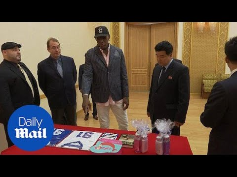 Dennis Rodman gives North Korea minister Trump\'s Art of the Deal - Daily Mail