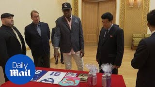 Dennis Rodman gives North Korea minister Trump's Art of the Deal - Daily Mail