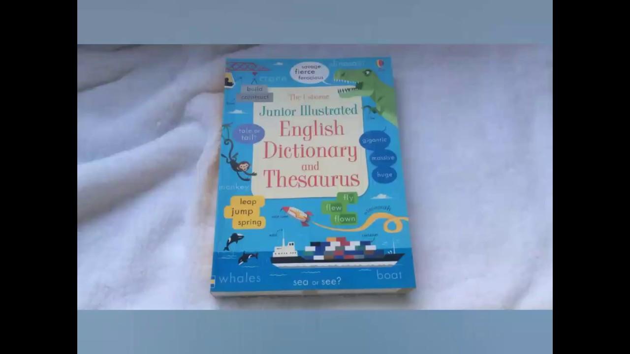 Junior illustrated English dictionary and thesaurus  Usborne