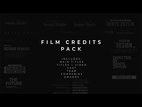 film credits pack after effects template ae. Black Bedroom Furniture Sets. Home Design Ideas