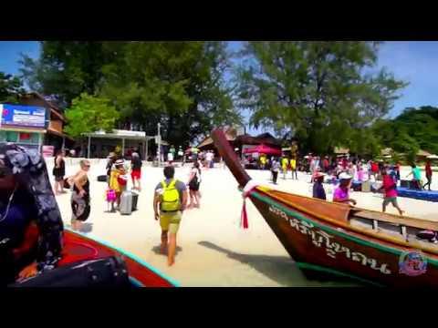 Vlog Travel in Thailand: trip from Koh Phi Phi to Koh Lipé by boat speed boat via Koh Lanta