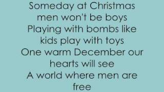 Justin Bieber -  Someday at christmas w/ lyrics