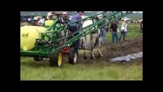 Horse Farming Spraying Produce