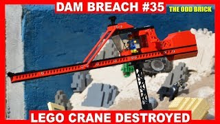 LEGO Dam Breach #35 - LEGO Crane Destroyed! thumbnail