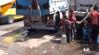 بالفيديو...سكان المشروع 1070 في حلب يهربون من بطش المسلحين