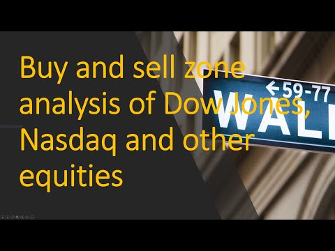 Buy and sell zone #analysis of Dow Jones, #Nasdaq and other #equities