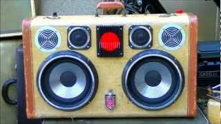 Sir Dalton the Thump by Hi-fi Luggage Vintage Suitcase Stereo Boombox (SOLD)