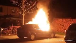 20.11.2019 - Bil sat i brand ved Vallensbæk