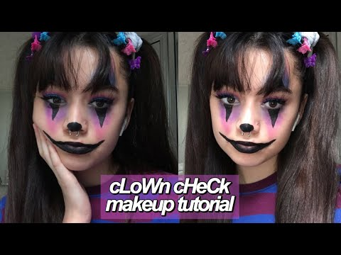 clown check makeup tutorial // elora skye , YouTube
