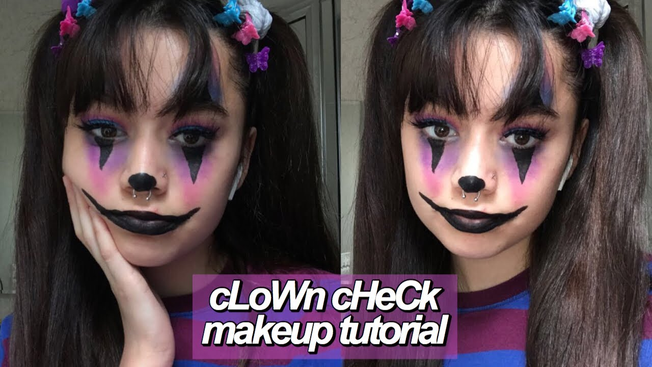 clown check makeup tutorial // elora skye