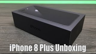 iPhone 8 Plus Space Grey Unboxing & Setup