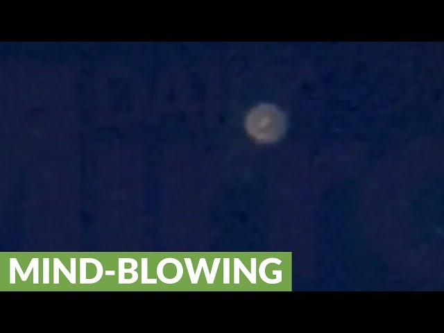 Mysterious UFO filmed flying over Leeds?