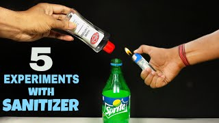 5 Amazing Experiments With Hand Sanitizer || Easy Science Experiments With Sanitizer