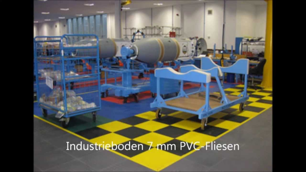 industrieboden bodenbelag f r die industrie pvc fliesen 7 mm youtube. Black Bedroom Furniture Sets. Home Design Ideas