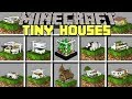 Minecraft TINY HOUSES MOD l SPAWN INSTANT WORLD'S SMALLEST HOUSES! l Modded Mini-Game