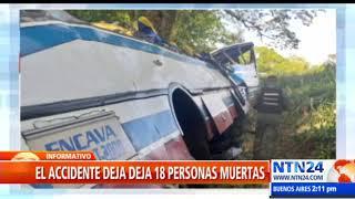 Al menos 18 personas muertas deja accidente de autobús en Zulia