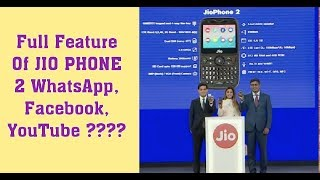 Full Feature of Jio phone 2!! Facebook, WhatsApp, YouTube support??!! Hindi