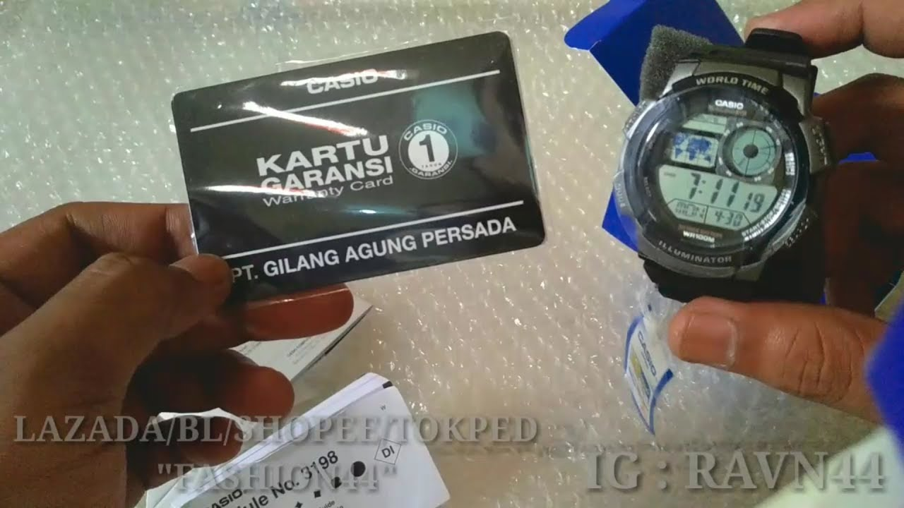 Review Unboxing Jam Tangan Casio Ae 1000 W Original Youtube 1000w 1a