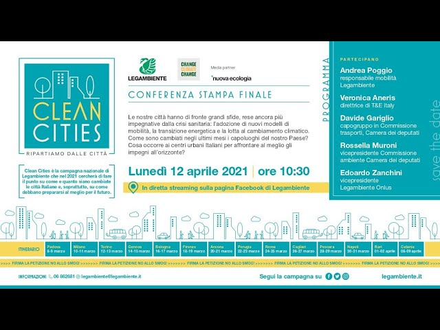 Clean cities. Conferenza stampa finale