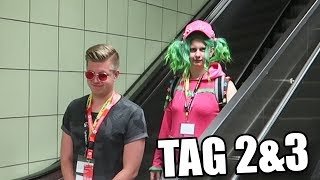 Crazy in Zoey costume haunts me! (Fortnite Skin Cosplay) DAY 2 & 3 - GAMESCOM 2018