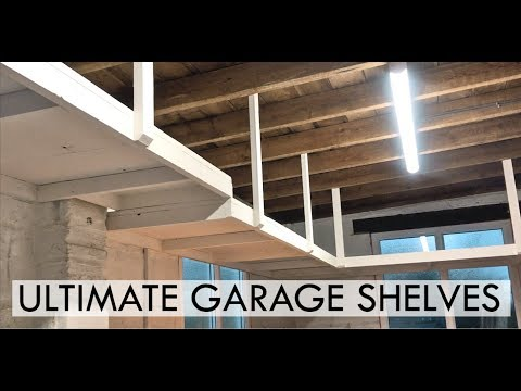 SUSPENDED GARAGE SHELVING - EASY DIY PROJECT