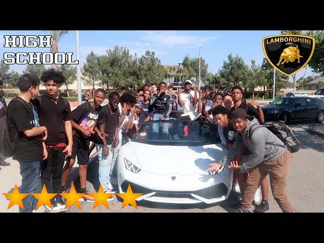 Picking Up My Angry Little Cousin from School in a 2019 Lamborghini! **HE'S POPULAR AT SCHOOL NOW!**