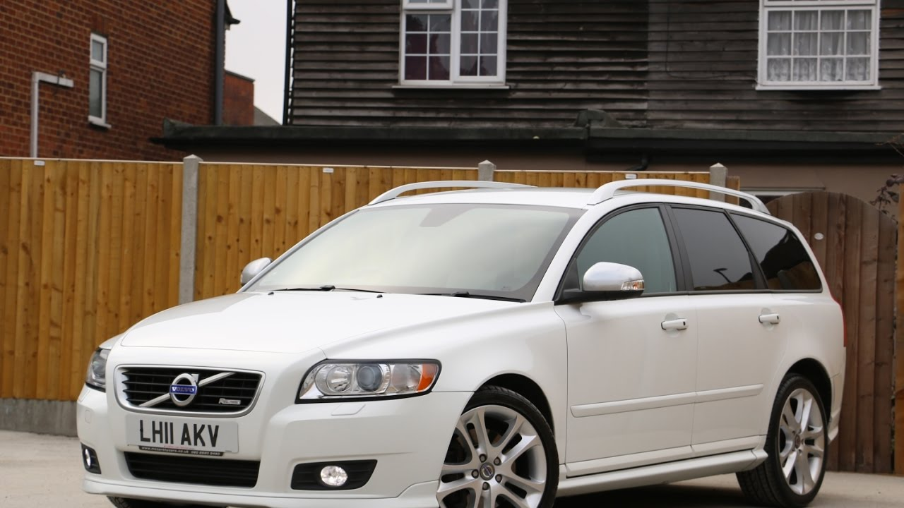 VOLVO V50 2.0 D4 Turbo Diesel 175 BHP R Design Geartronic 6 Speed Auto Estate Bluetooth LH11AKV ...
