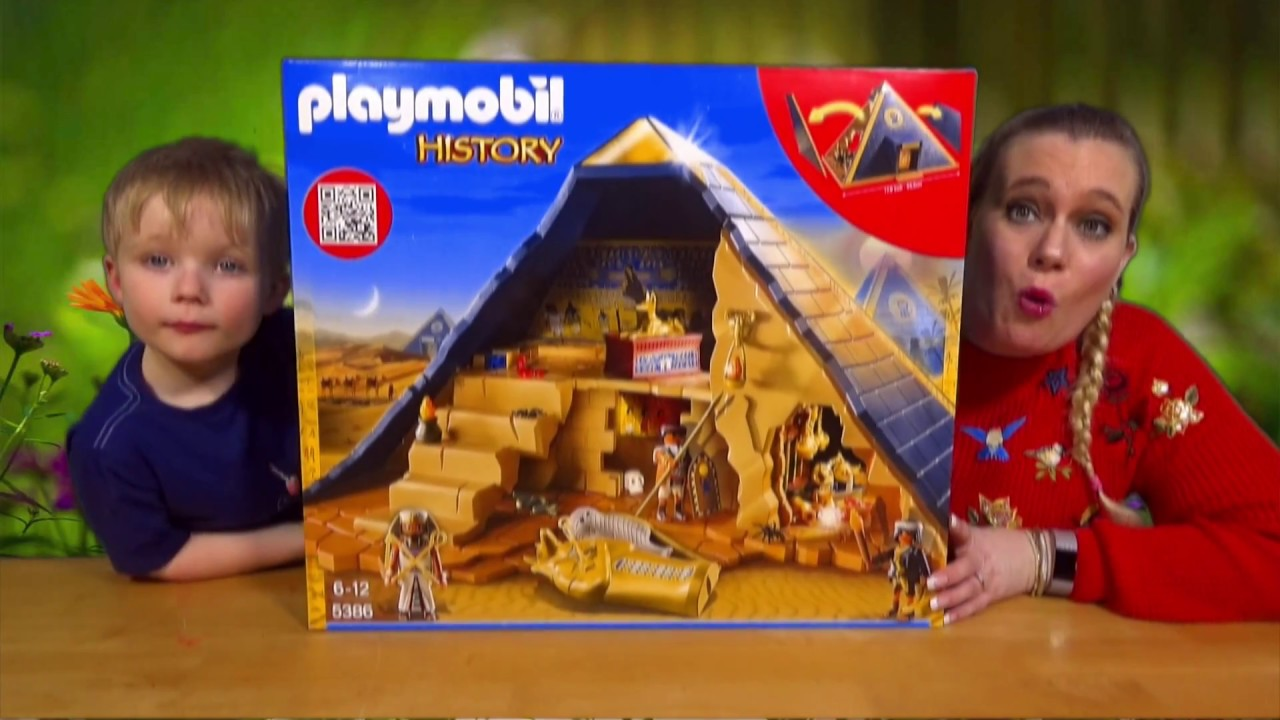 playmobil history pharaoh 39 s pyramid 5386 unboxing youtube. Black Bedroom Furniture Sets. Home Design Ideas