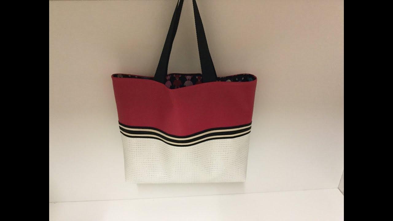 770ccc3eb8 Tuto facile coudre un sac D'été en similicuir Couture Madalena - YouTube