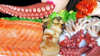 ASMR SEAFOOD 해산물 먹방 (연어회, 문어, …