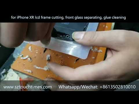 for iPhone XR LCD Frame & Front glass separating, glue cleaning no hurt the flex cable