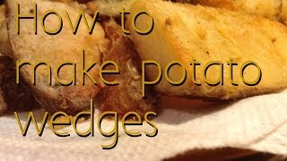 How to make potato wedges in the pan