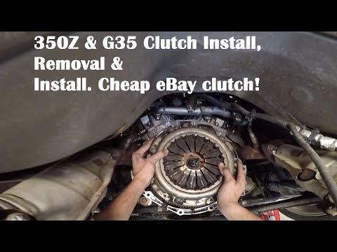 350Z & G35 Clutch Replacement 350z & G35 Clutch Install Episode 13