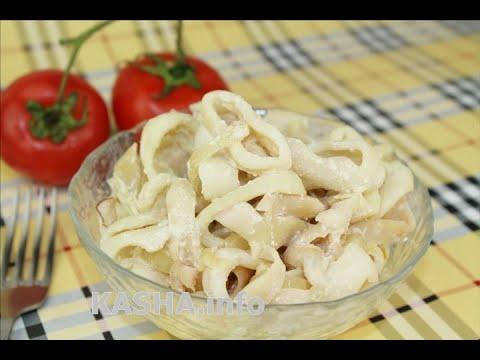 Кальмары в сметане, рецепты с фото на : 22
