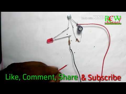 Light off timer circuit BC557 PNP Transistor