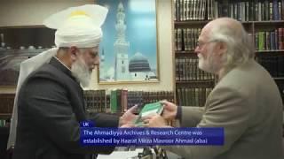 Hazrat Mirza Masroor Ahmad grants audience to Professor Ron Geaves