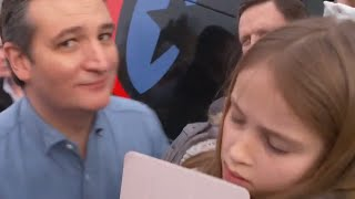 Ted Cruz Tries To Kiss His Daughter, Fails