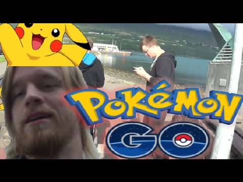 PieDiePew Look Alike Playing Pokemon Go in Iceland